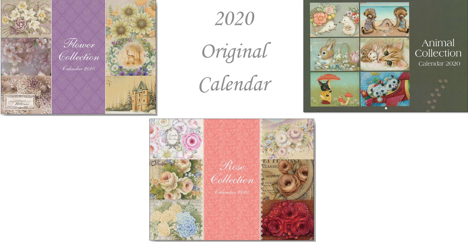 2020年トールペイント オリジナルカレンダー