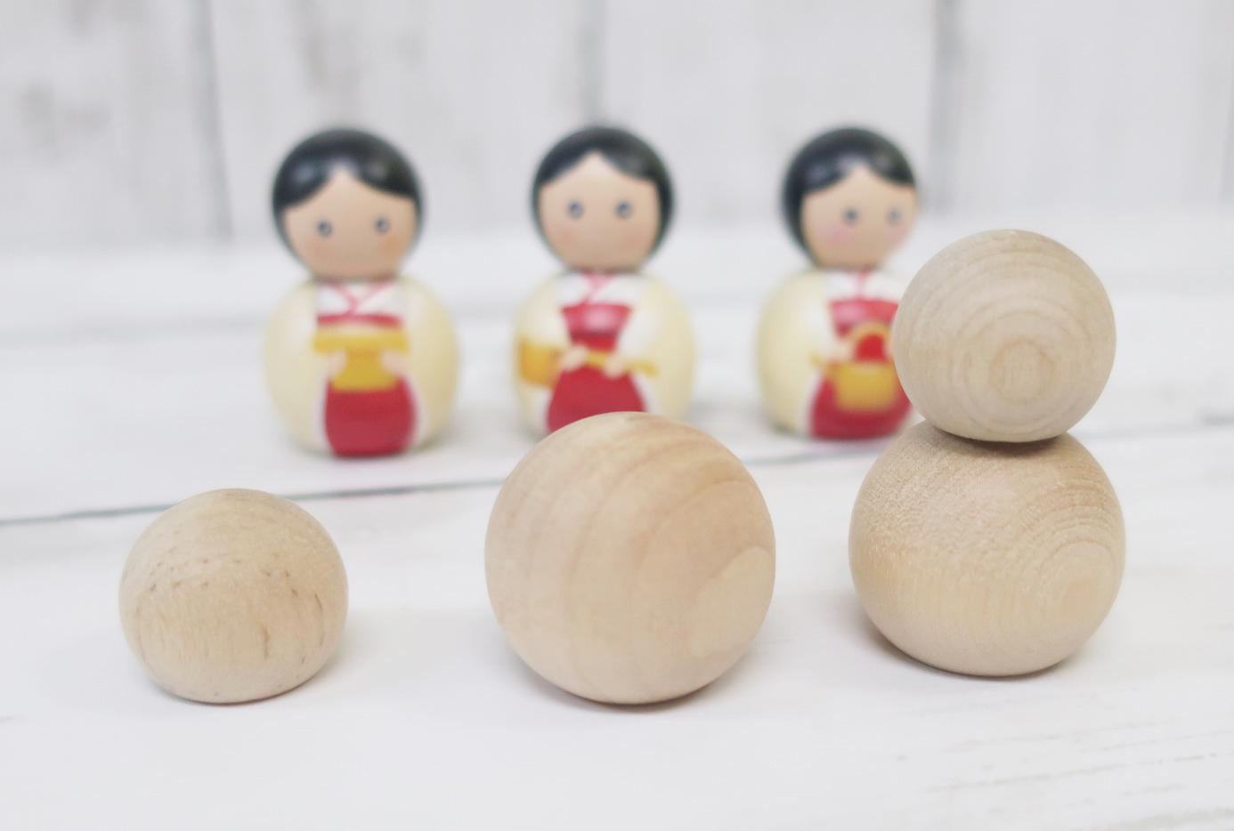 桃の節句のお雛様 手作りひな飾り