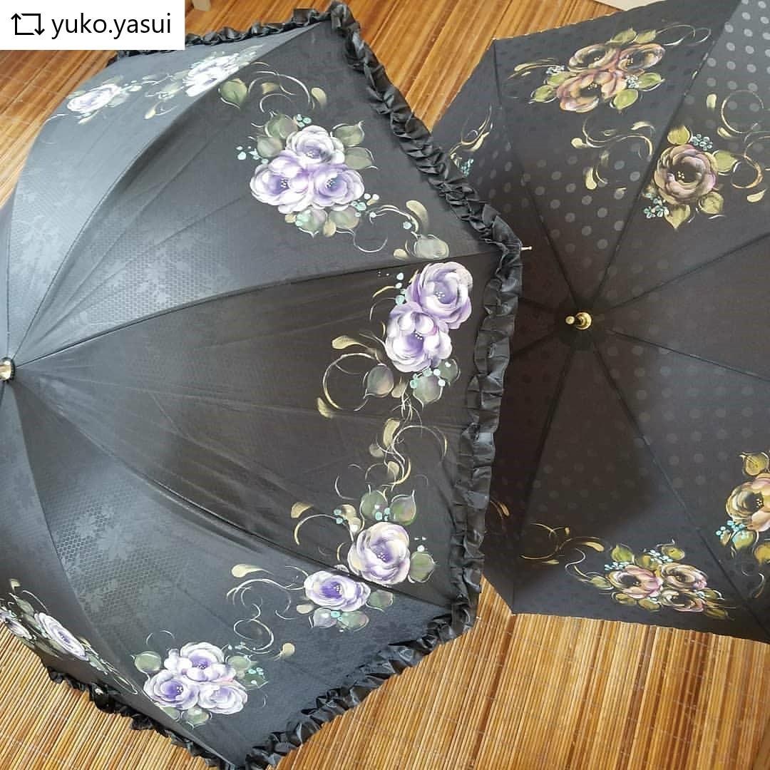 雨の日も気分があがる、オリジナルペイントの手作り傘。