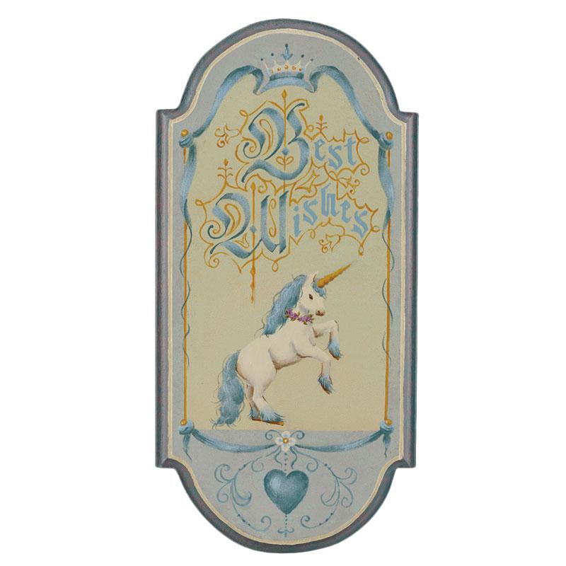 栗原寿雅子ウェルカムボードキット「ユニコーンのファンタジーボード」(アクリル) 注文番号 417-2249  本体価格 ¥1,500特+税