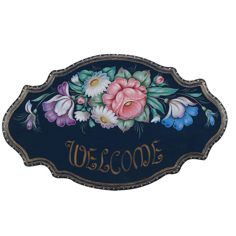 関根和子ウェルカムボードキット「バラとチューリップのウェルカムボード」(アクリル) 注文番号 417-2240 本体価格 ¥1,500特+税