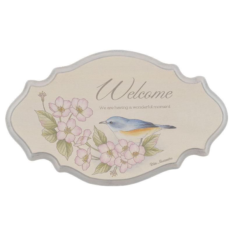 ウェルカムボードキット「桜とルリビタキのウェルカムボード」(アクリル) 注文番号 417-2243 本体価格 ¥1,500特+税