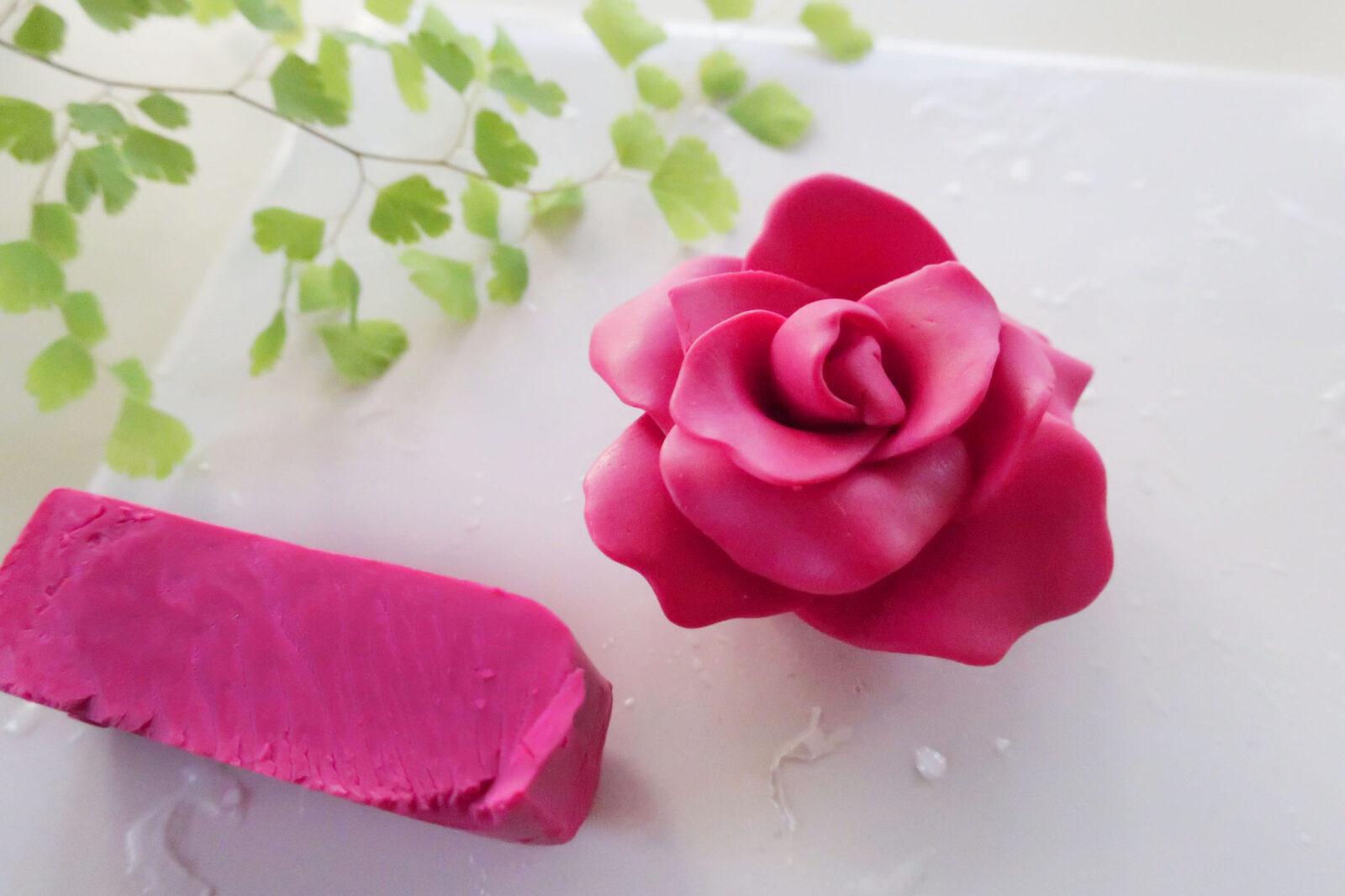 ポリマークレイ(オーブン粘土)の作り方薔薇